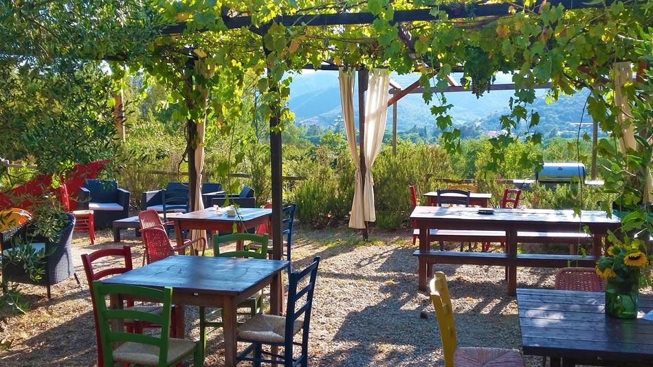 Restaurant and Market. Camping Orti di Mare, Lacona - Elba Island, Italy