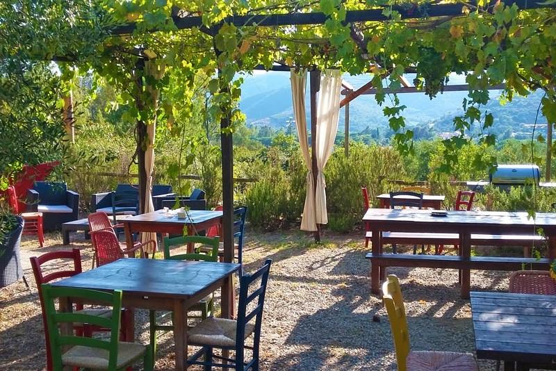 Restaurant und Markt Camping Orti di Mare, Lacona - Insel Elba, Italien