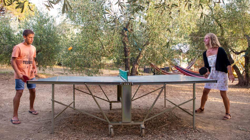 Restaurant en markt Camping Orti di Mare, Lacona - Eiland Elba, Italië