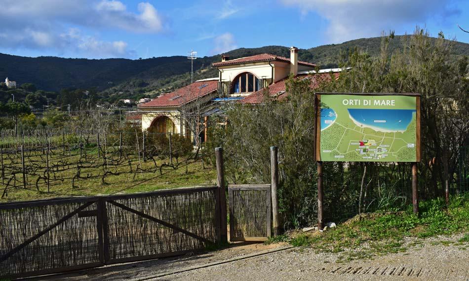 Appartement omgeven door groen, op een steenworp afstand van de zee. Camping Orti di Mare - Eiland Elba, Italië