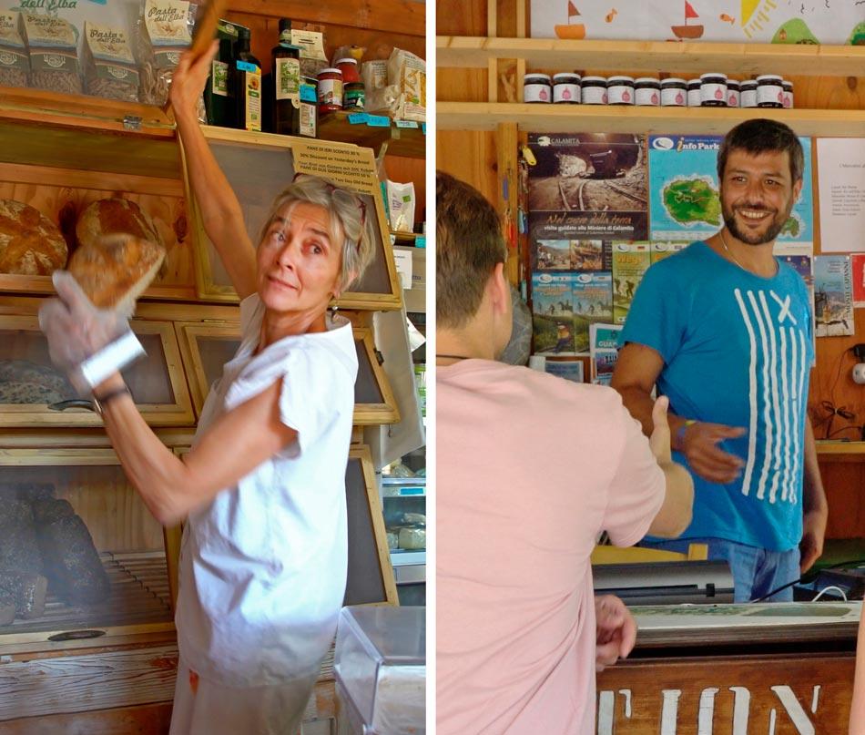 Market, Orti di Mare: Camping in de buurt van de zee, Elba Italië